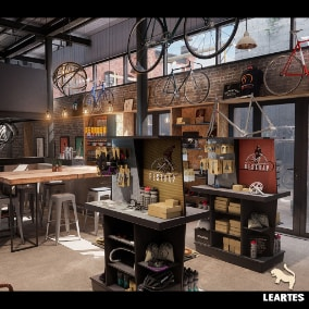 Bike Shop Environment with 259 Unique Meshes . Awesome Environment Pack for Realistic Games or Virtual Production Set Ups.
