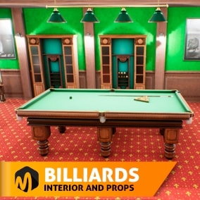Billiards - interior and props - ideal for your entertainment center.