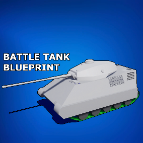 Create a simple and easily modifiable Battle Tank with this asset pack!