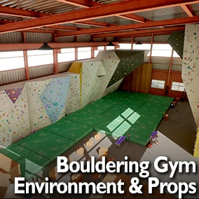 Bouldering Gym Environment and Assets for Your Games and Visualizations