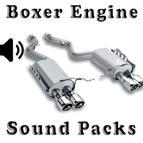 Boxer Engine Sound Packs asset contain three boxer engine sound packs.