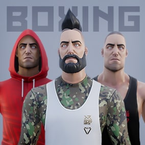 High quality customizable male character, ready to be implemented on your game. Compatible with Epic skeleton.