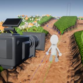 A - branching camera rail - Blueprint for 3D platformer.