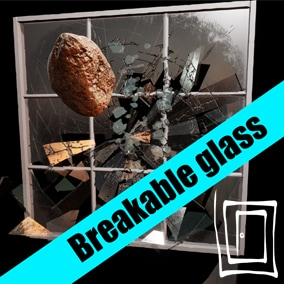 Realistic breakable glass