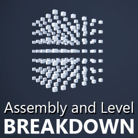 Fast and easy stylish looking assembly or level breakdown.