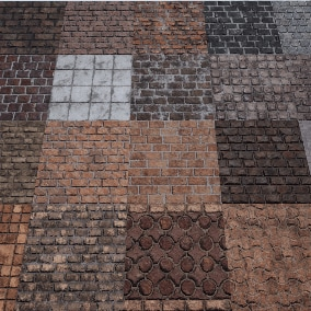 A pack of  20 different Brick Materials