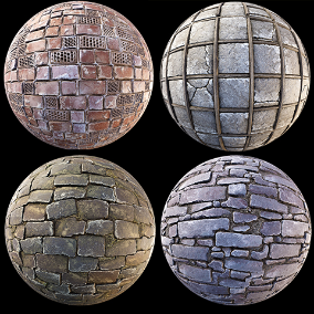 """Brick-Stone"" Pack of 13 PBR Materials"