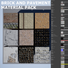 Tileable textures and materials with 1k, 2k, 4k resolutions