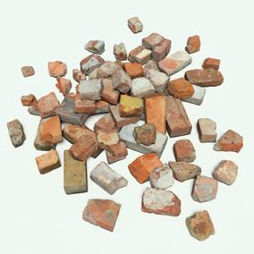 69 low poly bricks based on fotogrammetry
