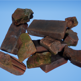 This pack contains 12 high quality, realistic old bricks and debris models based on photogrammetry data.
