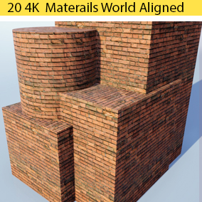 World Aligned Bricks system featuring 20 unique styles utilizing 327 4k textures