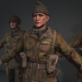 Royal Airborne & Royal Commando character pack to be used in your WWII project