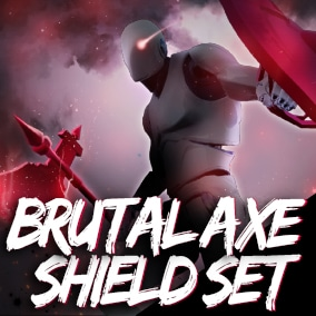 Brutal axe shield Set +98 animations