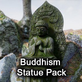 7 kinds of Buddhism statues and various unique materials