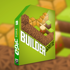 Builder Game - A special sonic tribute to the exploration of the world of builder games. Take this tidy sound pack on a fun, cartoon adventure and you'll be backpacking with 625+ game inspired sounds and effects