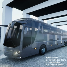 Game ready bus, with good physics. Good for bus games. With features that are written below.