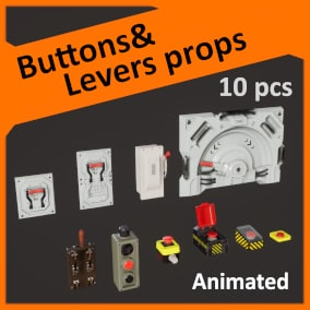 10 animated buttons and levers
