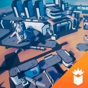 Sci-Fi environment pack with buildings, weapons, vehicles and spaceships and props