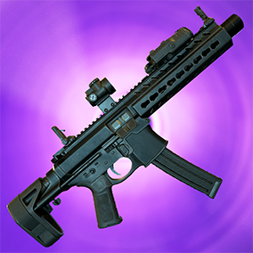 One customizable submachine gun with 2 different firing modes, with animation and sound.