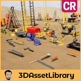 Building Tools pack part of the CR Series with over 70 unique assets and 14 prefabs for Unreal Engine 4.20+