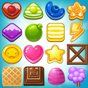 More than 490 candy cookie icons.