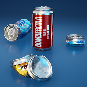 Collection of realistic cans.