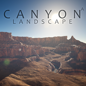 This content includes highly detailed 64 km2 (8x8 km) canyon landscape.