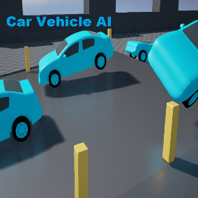 Create an easy to implement AI car into your game with a simple drag and drop Blueprint