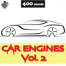 A big collection of car engines, including city, sports, off-road and pickup vehicle sound effects.