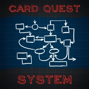 The system that allows you to easily create your own quest card game.