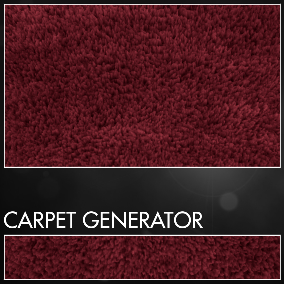 Use 2 Drag and Drop meshes with 11 variations or create your carpet in 1 minute.