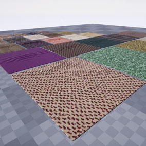 Get 5 high quality carpets for arch vis, games and virtual production.