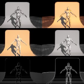 Highly customizable cel-shading Material lighting system. outlines are also included.