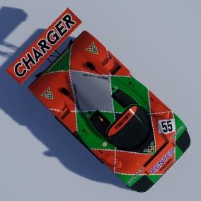 Driveable cartoon style endurance race car model from 1991.