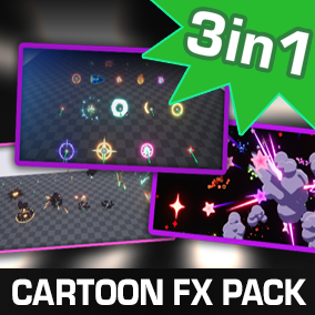 Cartoon FX Pack - 3 in 1