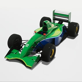 Driveable Cartoon/Toy style formula race car from 1991 with detailed mesh and high resolution textures.