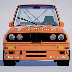 Driveable cartoon style touring race car model from 1992.