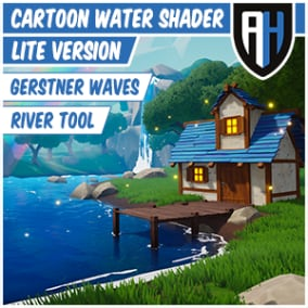 Cartoon Water Shader Lite is a highly stylized water material, and river tool with many features.