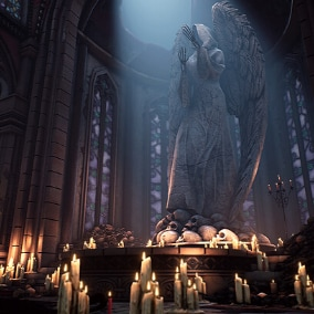 A Victorian Cultist Cathedral Environment That Will Take Your Game To The Next level!