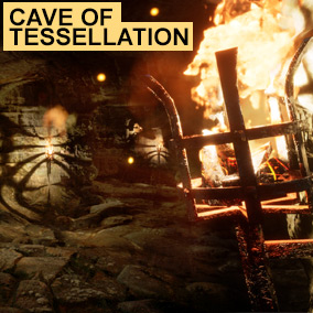 CaveOfTessellation is a modular cave and dungeon system featuring 343 objects and a world aligned seamless Tessellation material system in just 269 instructions including 237 textures