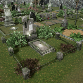 - Cemetery Package - a pack of graves, tombstones and fences typically seen in old eastern European graveyards.
