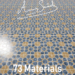 70+ Ceramic Materials ready for use of a Moroccan themed