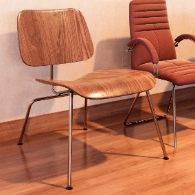 Chairs for architectural visualization