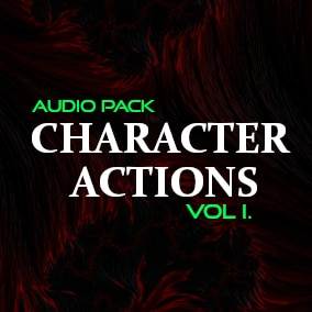 High quality character actions audio pack for your game!