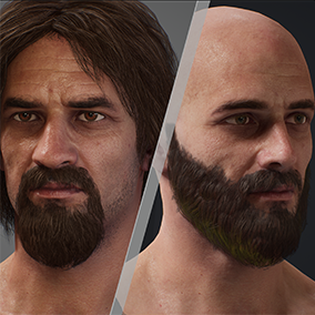 A game-ready male character with extensive facial and body customization. Perfect for any man hero, for FPS or RPG projects.