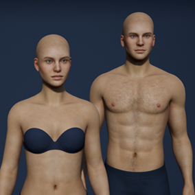 Versatile, general purpose character customizer with male and female characters