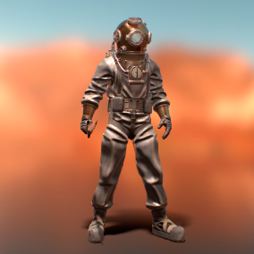 Character Diver, It will be a good addition to your game with a historical design.