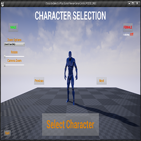 Character selection screen, Fully Replicated, Create your own project or Integrates into existing project.