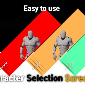 Character selection screen. easy to use.