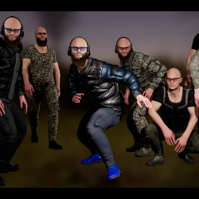 Character military bandit 3 modular